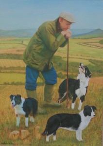 Sheperd with dogs